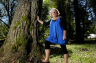 Buried Village owner Pam McGrath has farewelled the stand of 126-year-old trees at the Rotorua tourist attraction. Photo / Alan Gibson.