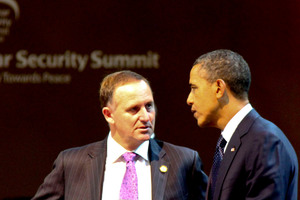 Prime Minister john Key meets with President Barack Obama. Photo / National Party