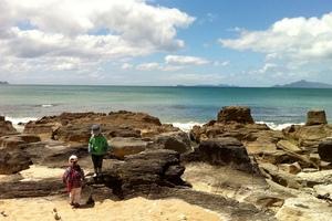 Walking the Waipu cove coastal trail. Photo / Supplied