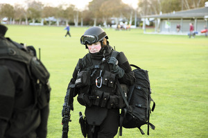 Liz Williams felt privileged to help her Armed Offenders Squad in Napier. Photo / Supplied