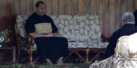 King Tupou VI grants civil servants an audience at his residence yesterday. Photo / Sarah Ivey