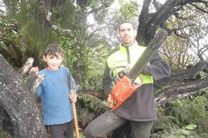 Odin Karetai, 6, and his father Paul Jason Fowler-Karetai, 40, both loved the sea, says Odin's mother.  Photo / Supplied