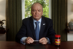 Sir Graham Henry tells Marmite lovers not to 'freak out' during the shortage. Photo / Supplied