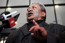 Academic Rawiri Taonui says 'Tame Iti is a master of theatre, not a terrorist.' Photo / Greg Bowker