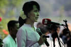 Myanmar's pro-democracy leader Aung San Suu Kyi.  Photo / AP