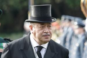 King Tupou V. Photo / Mark Mitchell