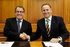 John Banks and John Key. Photo / Mark Mitchell