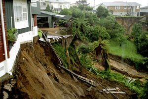 Even well-considered investments can be undermined by unexpected risks - like the weather-related damage sustained by this Tauranga property. Photo / APN
