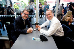John Key and John Banks during the famous 'teapot tapes' scandal. Photo / Dean Purcell