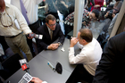 National Party leader John Key and Act Party leader John Banks during the infamous cup of tea. Photo / Dean Purcell