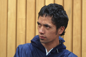 Rawiri Samuel in the Rotorua District Court after being charged with murder of Roman Skorek at Kuirau Park. Photo / Ben Fraser