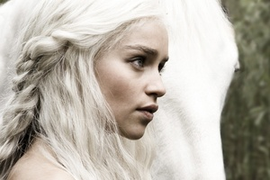 Emilia Clarke as Game of Thrones character Daenerys Targaryen. Photo / Supplied