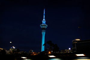 The Sky Tower is participating in Earth Hour. Photo / Sarah Ivey