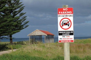 The 'renegade' signs have been removed from Matauri Bay. Photo / APN