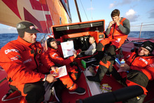 The 2000 Mile to go to Chile party on CAMPER with Emirates Team New Zealand. Photo / Hamish Hooper