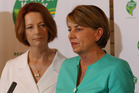 Australian Prime Minister Julia Gillard and Queensland Premier Anna Bligh. Photo / Getty Images