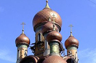 The St Nicholas Russian Orthodox church shows off its onion domes. Photo / Creative Commons image from Wikimedia