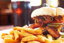Simple meals such as a burger and fries should be available in places serving alcohol, no matter the time. Photo / Thinkstock