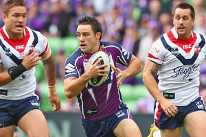 Cooper Cronk will remain in Melbourne till the end of the 2016 season. Photo / Getty Images