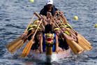 Epsom Girls Grammar won Race 16 in Round 2 during the Auckland regional Secondary Schools Dragon Boat Championships at Lake Pupuke on Sunday. Picture / Brett Phibbs