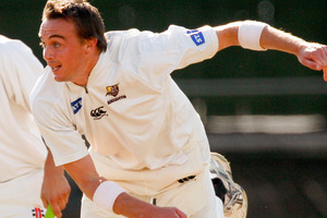 Graeme Aldridge was the best of the ND bowlers with 4-74. Photo / Getty Images