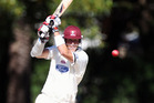 Northern Districts batsman Joseph Yovich in action against Central. Photo / Paul Taylor