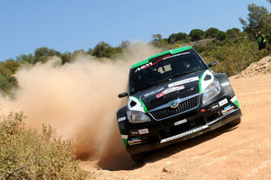 Hayden Paddon is nearly 25 seconds up in Rally Portugal. Photo / Honza Fron?k