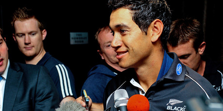 Ross Taylor talks to the media in Wellington today. Photo / Getty Images