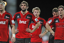 The Crusaders are in South Africa after playing their first home game in almost two years last week. Photo / Getty Images