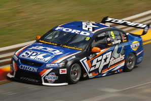 FAST: Shane Van Gisbergen finished fourth in Tasmania. Photo / Getty Images