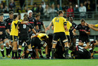 A fight broke out during the Hurricanes' match against the Sharks on Friday. Photo / Getty Images