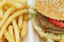 Junk food like burgers and hotdogs increase your chance of depression. Photo / Thinkstock