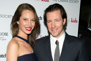 Christy Turlington and her husband Ed Burns. Photo / Charles Sykes