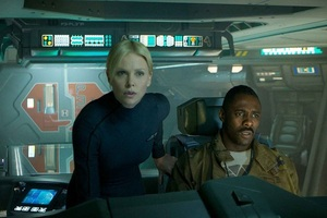 Charlize Theron and Idris Elba in Prometheus. Photo / Supplied