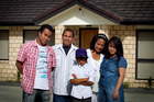 Salvador and Lolita Etraves, with their children Salvador Jnr, 20, Symon, 10, and Salomae, 20, have bought a house in Manurewa. Photo / Natalie Slade