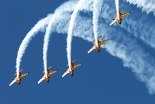 The RNZAF aerobatic team, the Red Checker. Photo / Mark Mitchell