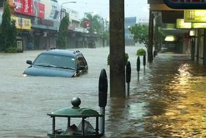 A flooded street in Nadi Town. Photo / Supplied