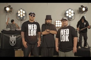 Hedlok - the NZ hip-hop supergroup featuring Che Fu, King Kapisi, and Teremoana Rapley. Photo / Supplied
