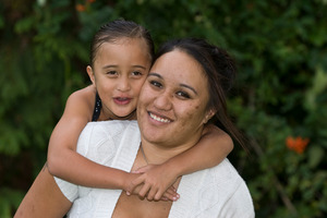 Stefanie Cook with her daughter Hemo, 5. Photo / Michael Craig