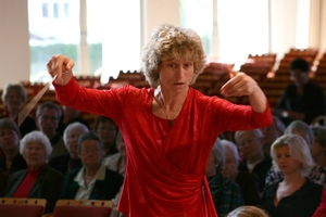 Rita Paczian during a preview of St Matthew Passion. Photo / Supplied