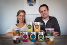 Natalie and Andrew Vivian of The Tasty Pots Company. The company is marketing to schools and supermarkets. Photo / Natalie Slade