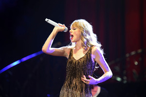 Taylor Swift's 'Eyes Open' from the soundtrack of 'The Hunger Games' has entered the chart high, at number six. Photo / NZ Herald