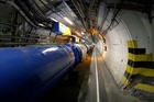 A view of the LHC in its tunnel at CERN near Geneva, Switzerland. Photo / AP