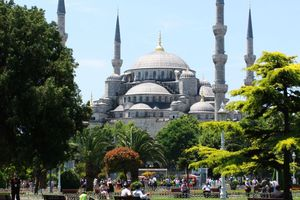 The Blue Mosque is visible from most vantage points across Istanbul. Photo / Jim Eagles