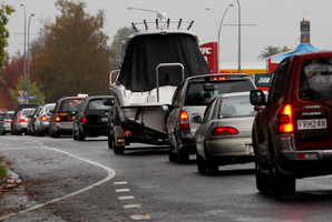 Easter holiday traffic is expected to be on the go-slow due to wet weather. Photo / Christine Cornege