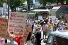 Anti-fracking protestors. Photo / APN