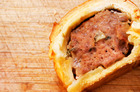 Oregano, garlic and mustard sausage rolls. Photo / Babiche Martens