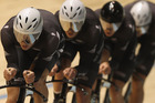 New Zealand's men's pursuit team of (left to right) Marc Ryan, Sam Bewley, Aaron Gate and Westley Gough will need to fight hard to better Britain and Australia. Photo/ Andrew Brownbill