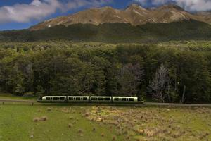Concept picture for a proposed monorail and combined transport project from the Infinity Investment Group linking Te Anau to Central Otago in the South Island. Image / Infinity Investment Group