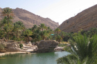 Palm-fringed Wadi Bani Khalid is a great place for a refreshing desert dip. Photo / Jill Worrall